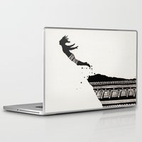diver Laptop & iPad Skins featuring Cliff Diver by Daniel Hughes