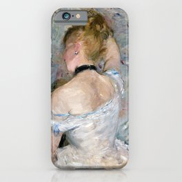 Berthe Morisot - Woman at Her Toilette - Digital Remastered Edition iPhone Case