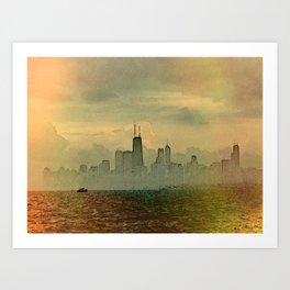 Foggy Skyline #4 Art Print