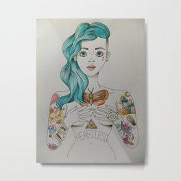 Tattooed Girl. Metal Print