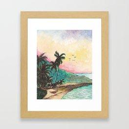 San Blas sunset Framed Art Print