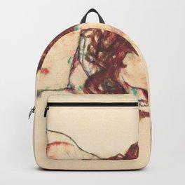 """Egon Schiele """"Auf dem Bauch liegender weiblicher Akt"""" Backpack"""