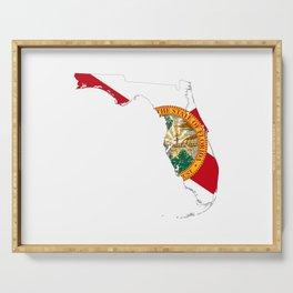 Florida Flag Map Serving Tray