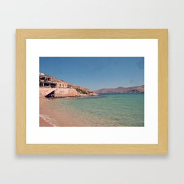 A Greek Beach Framed Art Print