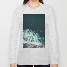 WAVES - OCEAN - SEA - WATER - COAST - PHOTOGRAPHY Long Sleeve T-shirt