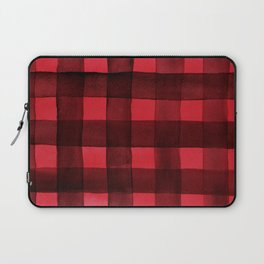 Buffalo Plaid Watercolor in Red Laptop Sleeve