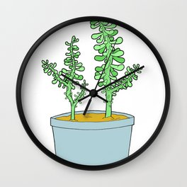 Sedum Wall Clock