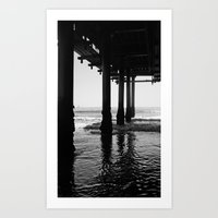 santa monica Art Prints featuring Santa Monica by Jordan Dragojlovic
