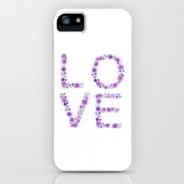 Floral Love Lilac Flowers iPhone Case