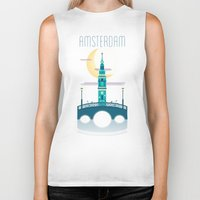 amsterdam Biker Tanks featuring Amsterdam by Milli-Jane