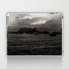 Summer Harvest. Norfolk England  Monochrome Laptop & iPad Skin