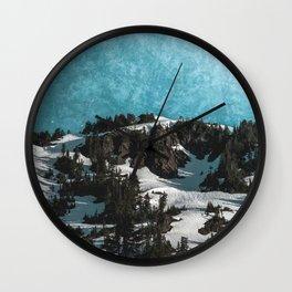 Mountain Morning Dew Wall Clock