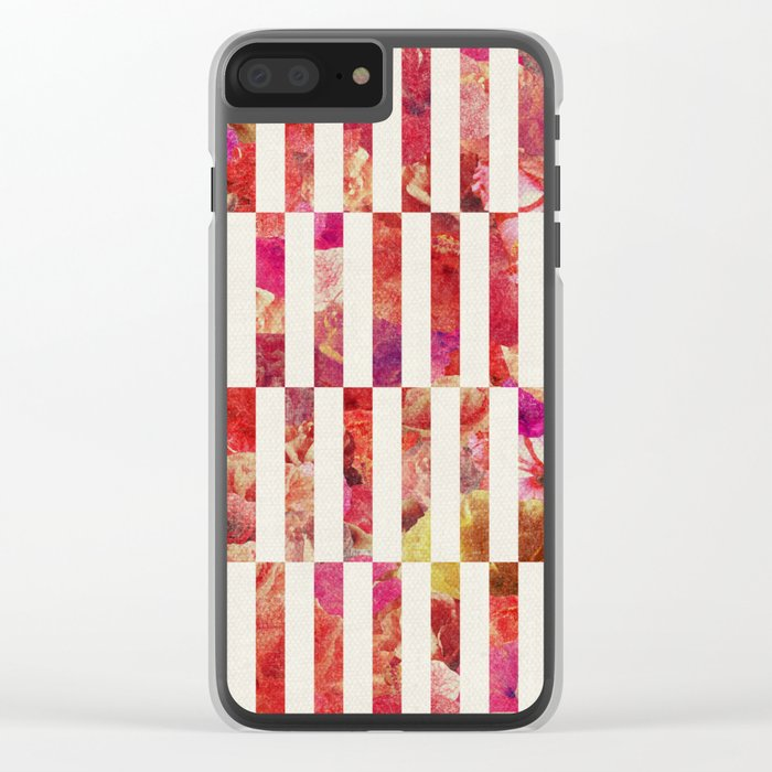 PINK FLORAL ORDER Clear iPhone Case