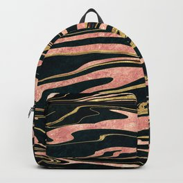 Classy abstract marbleized paint image Backpack