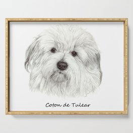 Coton de tulear Serving Tray