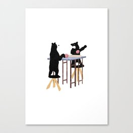 table tennis players Canvas Print