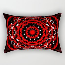 Mandala 009 Red White Black Rectangular Pillow