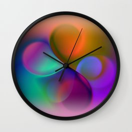 window curtain - colors for your home -2- Wall Clock