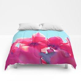 Cyclamen blossom Comforters