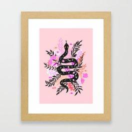 cosmic snake Framed Art Print