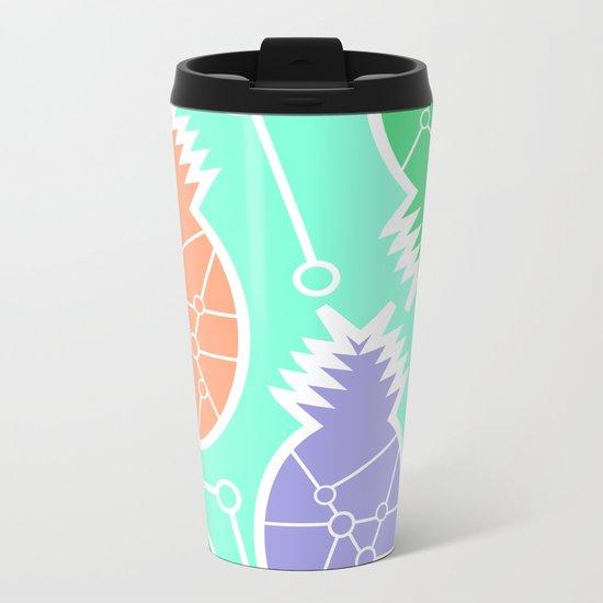 Pineapple network Metal Travel Mug