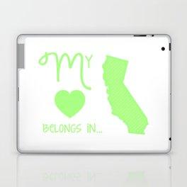 My Heart Belongs in California Laptop & iPad Skin