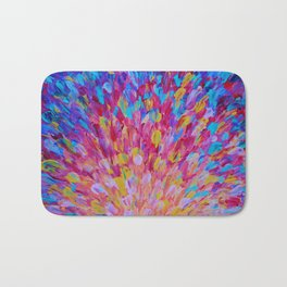 SPLASH, Revisited - Bold Beautiful Feminine Romance Ocean Beach Waves Magenta Plum Turquoise Crimson Bath Mat