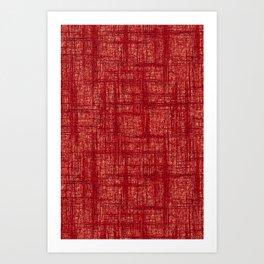 Textured Tweed - Brick Red Art Print