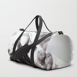 Panoramic View Of Everest Mountain Painting Duffle Bag