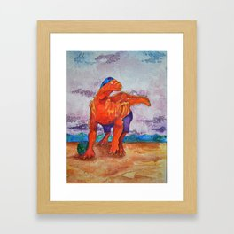 Beach Ball Dinosaur - Barney Framed Art Print