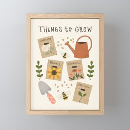 Things to Grow - Garden Seeds Framed Mini Art Print