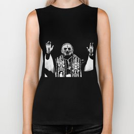 You Taste Like Death Pope Biker Tank