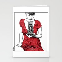 apollonia Stationery Cards featuring asc 165 - Le regard inversé (d'après zzitlali) by From Apollonia with Love