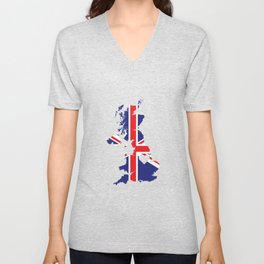 Love United Kingdom Gift British Pride Heart Unisex V-Neck