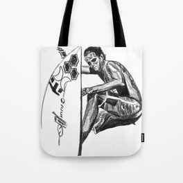 Surfer - Black and White Tote Bag