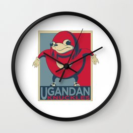 Ugandan Warrior Wall Clock