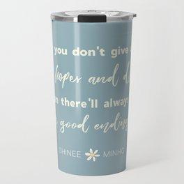 SHINEE Minho Quote Travel Mug