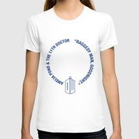 amy pond T-shirts featuring Doctor Who pals: the 10th Doctor & Amy Pond (white version) by logoloco