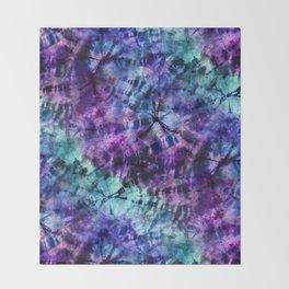 Midnight Tie Dye Throw Blanket