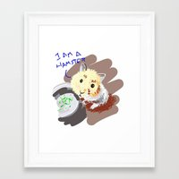 hamster Framed Art Prints featuring Hamster by wingnang