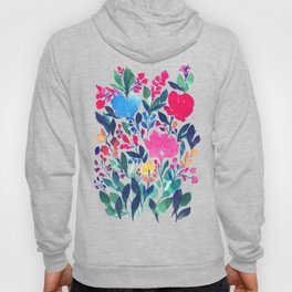 hand painted flowers_3a Hoody