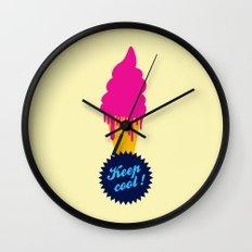 Ice cream - Keep cool  Wall Clock