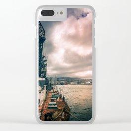 Crane Ship Clear iPhone Case