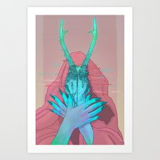 Goat Head Art Print