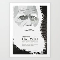 darwin Art Prints featuring Darwin by James Northcote