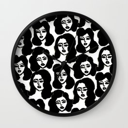 Retro Girls Wall Clock