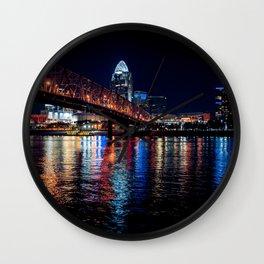 City night bridge Wall Clock