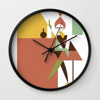 bar Wall Clocks featuring Mini Bar by Szoki
