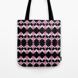 Pink Flamingos Art Deco Pattern Tote Bag