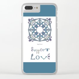 """Support Love Mandala with """"Support Love"""" - Cool Clear iPhone Case"""